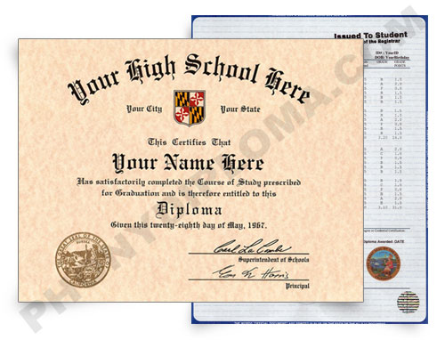 Online Fake High School Diploma and Transcripts