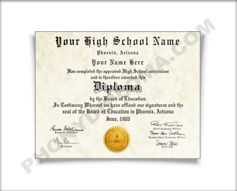 Fake High School Diploma, Mountain States Design