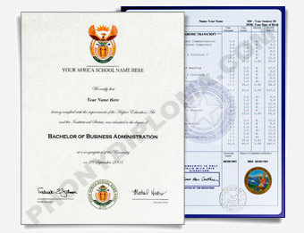 Fake Diploma & Transcript Sample from Africa