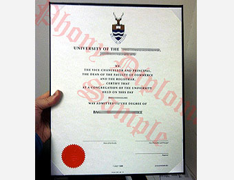 University of Witwatersrand - Fake Diploma Sample from Africa