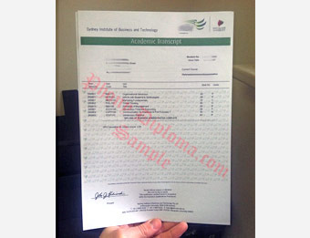 Sydney Institute of Business and Technology - Fake Diploma Sample from Australia