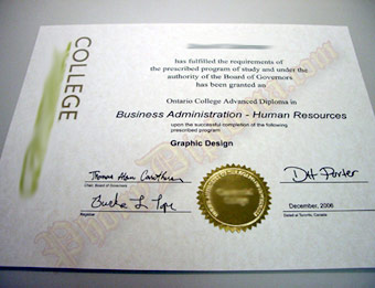 Centennial College (1) - Fake Diploma Sample from Canada