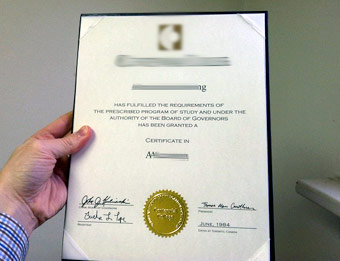 Centennial College (2) - Fake Diploma Sample from Canada