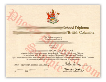 High School Diploma (2) - Fake Diploma Sample from Canada