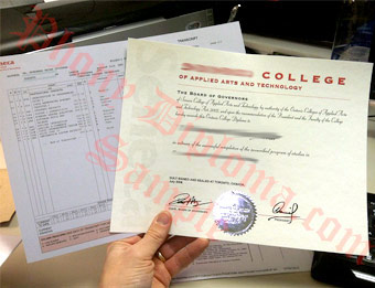 Seneca College - Fake Diploma Sample from Canada