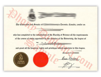 York University (1) - Fake Diploma Sample from Canada