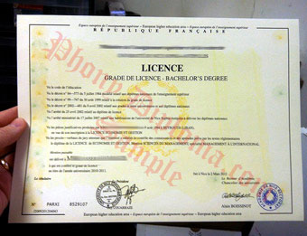 Fake Diploma Samples from France