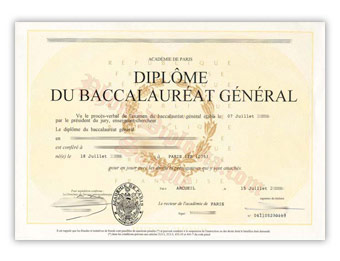 Academie de Paris - Fake Diploma Sample from France
