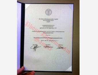 University of Zurich - Fake Diploma Sample from Germany