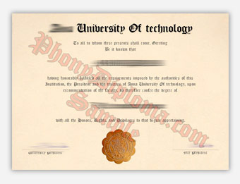 Anna University of Technology - Fake Diploma Sample from India