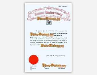 Anna University (1) - Fake Diploma Sample from India