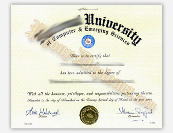 National University - Fake Diploma Sample from India