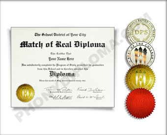 Fake International Actual Match Diplomas