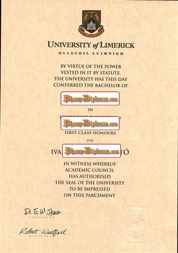 Fake Diploma from Ireland University - PhonyDiploma.com