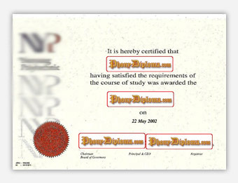 Nanyang Polytechnic - Fake Diploma Sample from Malaysia
