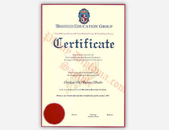 Raffles Education Group Certificate - Fake Diploma Sample from Malaysia