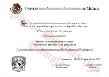 Fake Diploma from Mexico University Mexico D