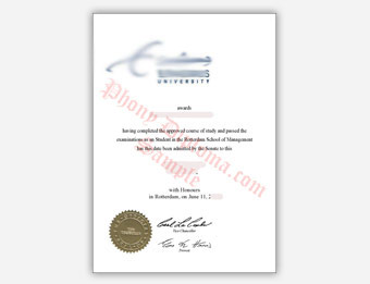 Erasmus University - Fake Diploma Sample from Netherlands