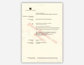Universiteit Van Amsterdam - Fake Diploma Sample from Netherlands