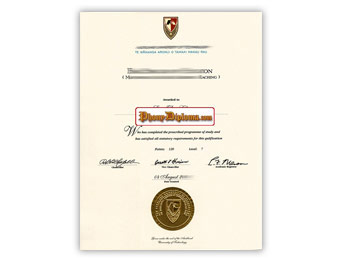 Auckland University of Technology - Fake Diploma Sample from New Zealand