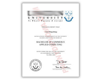 Lincoln University - Fake Diploma Sample from New Zealand