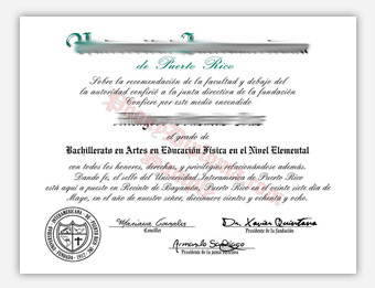 Fake Diploma Samples from Puerto Rico