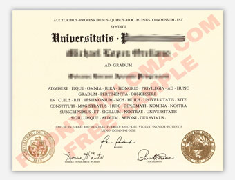 Universitatis Portoricensis - Fake Diploma Sample from Puerto Rico