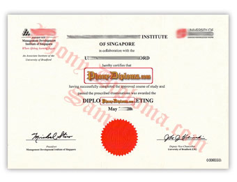 Management Development Institute (MDIS) - Fake Diploma Sample from Singapore