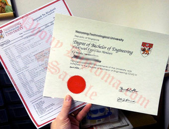 Nanyang Technological University - Fake Diploma Sample from Singapore