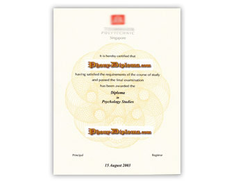 Temasek Polytechnic - Fake Diploma Sample from Singapore