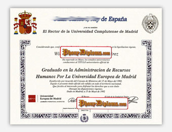 Fake Diploma from Spain University Spain D
