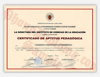 El Rector De La Universidad Complutense Madrid - Fake Diploma Sample from Spain