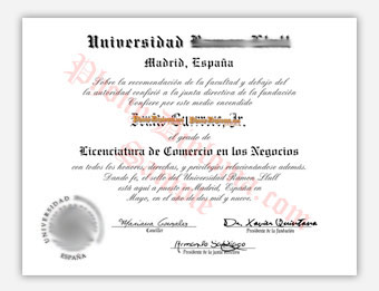 Universidad Ramon Llull - Fake Diploma Sample from Spain