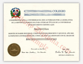 Centro Nacional Colegio - Fake Spanish Diploma Sample