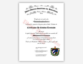 Jose Martini Instituto de Educasion - Fake Spanish Diploma Sample