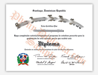 Mexico High School - Fake Spanish Diploma Sample