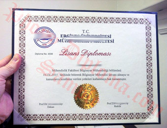 Fake Diploma Samples from Turkey