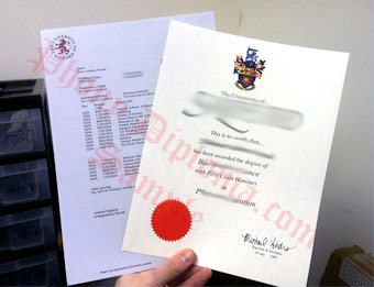 University of Salford - Fake Diploma Sample from United Kingdom