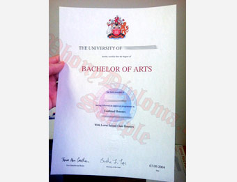 University of Westminster - Fake Diploma Sample from United Kingdom