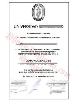 Fake Diploma from Peru University Peruvian D