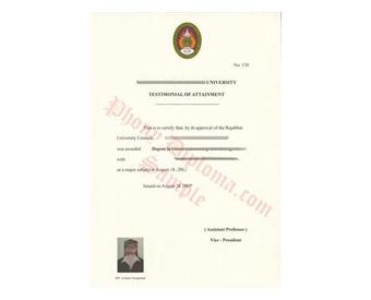 Buy Fake Diplomas and Transcripts from Thailand