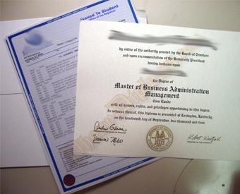 College Fake Diploma Package With White Parchment and Blue Transcript paper