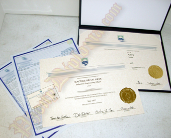 International Canada Fake Diploma and Transcripts Package With Extra Prints