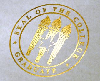 Flat Gold Foil Emblem