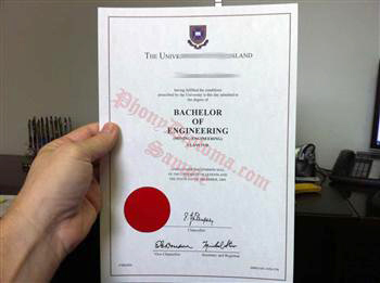 Embossed Red Emblem on Fake Diploma