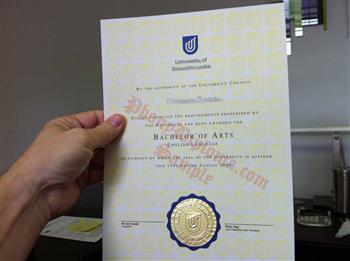 Two Color Emblem on Fake Diploma