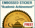 Academic Seal Embossed Foil Sticker - FREE