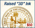 Raised 3D Gold + $50
