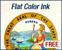 Official State Seal Flat Printed Ink - FREE